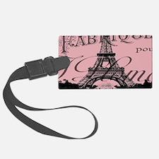modern girly pink paris Luggage Tag
