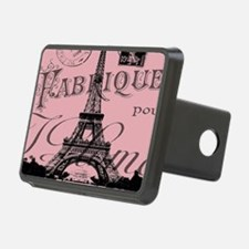 modern girly pink paris Hitch Cover