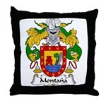 Montana Family Crest Throw Pillow