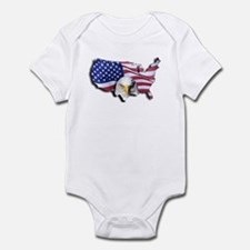 Bald Eagle Over American Flag Body Suit