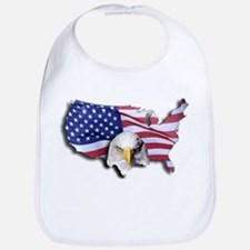 Bald Eagle Over American Flag Bib
