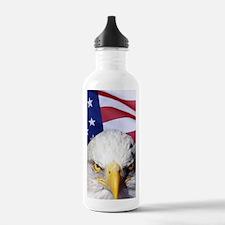 Bald Eagle Over Americ Water Bottle