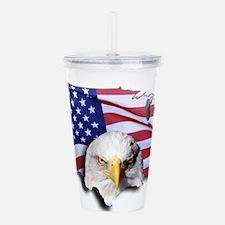 Bald Eagle Over Americ Acrylic Double-wall Tumbler