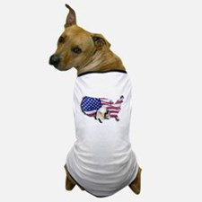 Bald Eagle Over American Flag Dog T-Shirt