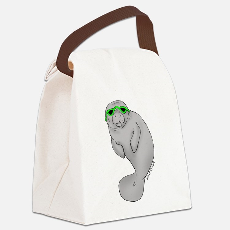 coolmanatee 001 copy.jpg Canvas Lunch Bag