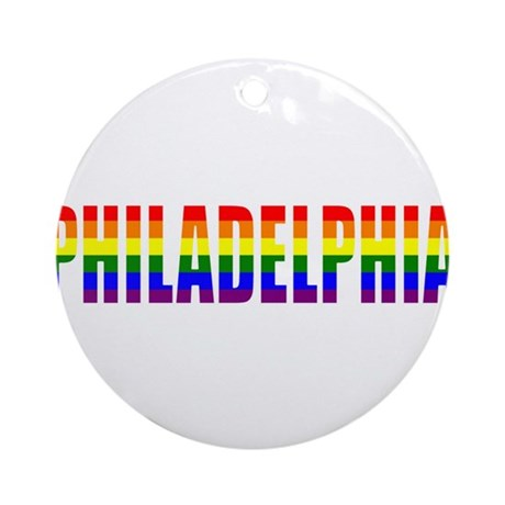 Philadelphia Pride Ornament (Round)