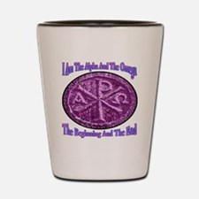 Chi Rho Alpha Omega Shot Glass