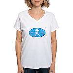 Aquarius Color Women's V-Neck T-Shirt