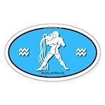 Aquarius Color Oval Sticker