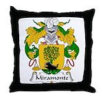 Miramonte Family Crest  Throw Pillow