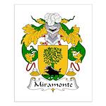Miramonte Family Crest  Small Poster