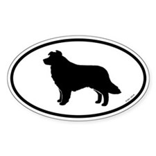 Oval Border Collie Decal