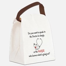 DO YOU WANT TO SPEAK TO THE DOCTO Canvas Lunch Bag