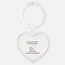 DO YOU WANT TO SPEAK TO THE DOCTOR  Heart Keychain