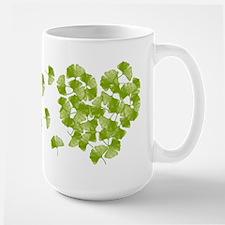 Ginkgo Leaf Heart Mugs