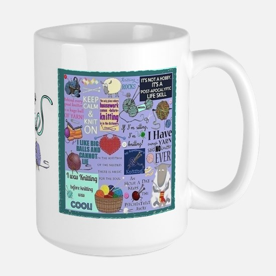 Knitters Large Mug Mugs