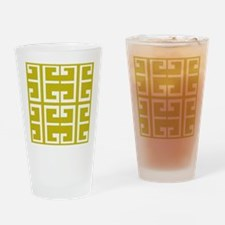 Mustard Gold Tile Drinking Glass