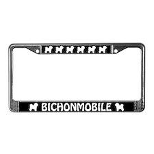 Bichonmobile License Plate Frame