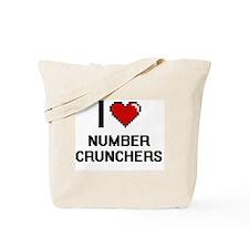 I Love Number Crunchers Tote Bag