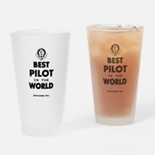 Best Pilot in the World Drinking Glass