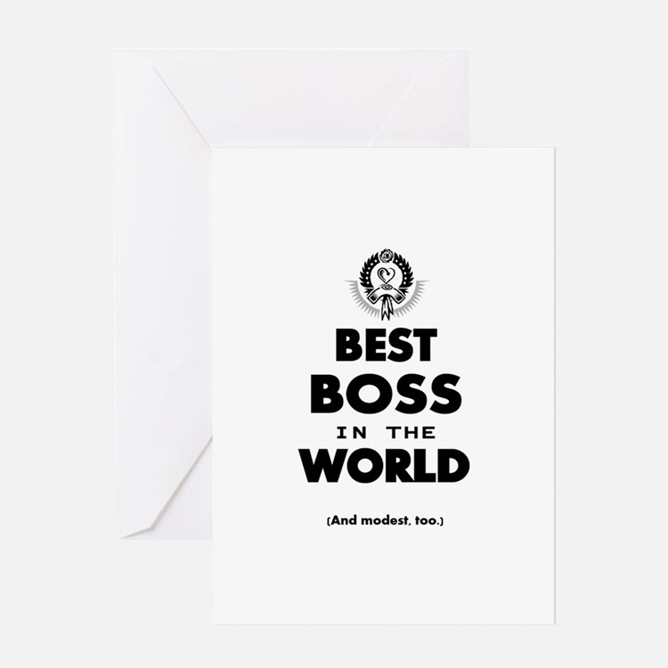 Best Boss in the World Greeting Cards
