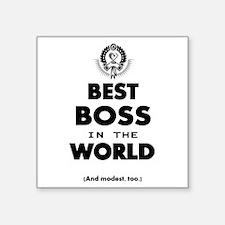 Best Boss in the World Sticker