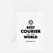 Best Courier In The World Greeting Cards