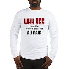 World's Greatest Au Pair Long Sleeve T-Shirt