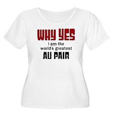 World's Greatest Au Pair Plus Size T-Shirt