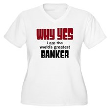 World's Greatest Banker Plus Size T-Shirt