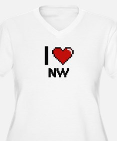 I Love Nw Plus Size T-Shirt