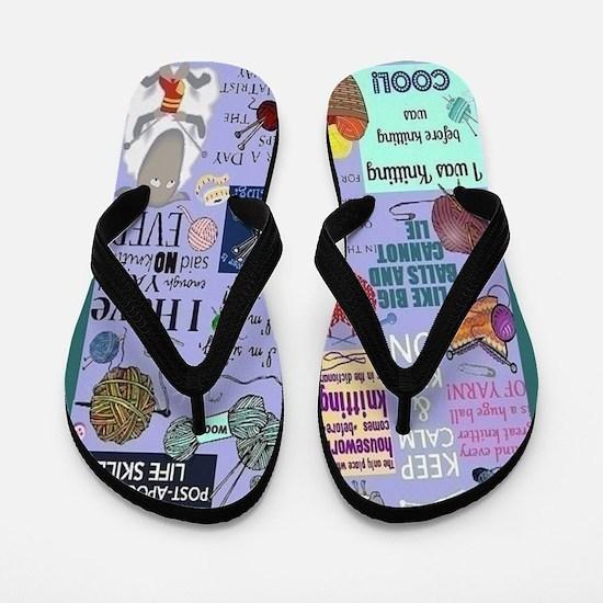 Knitters Flip Flops