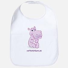 Cute Baby Hippo Bib