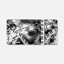 Classical Piano Art Musicia Aluminum License Plate