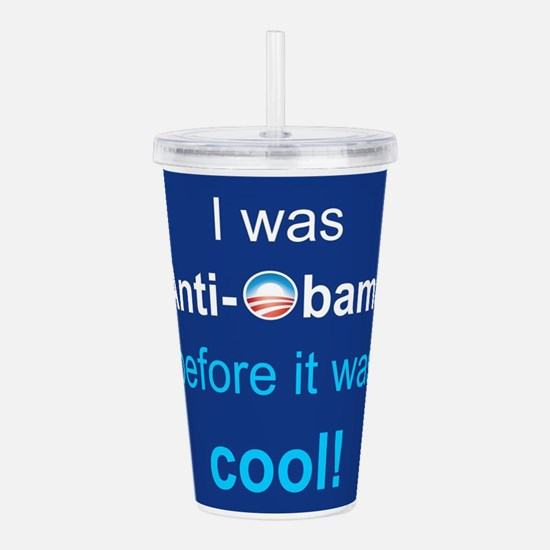 PRES44 ANTI-OBAMA Acrylic Double-wall Tumbler