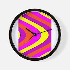 Fluid Karma Pink Yellow Becky's Fave Wall Clock