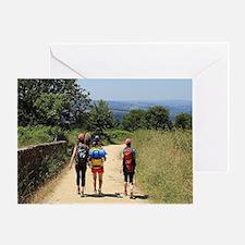 Walkers on El Camino, Spain, Europe Greeting Card