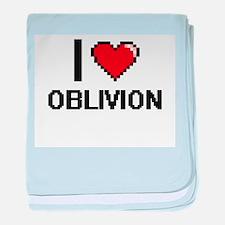 I Love Oblivion baby blanket