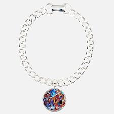 Juleez Music Theme Art D Charm Bracelet, One Charm