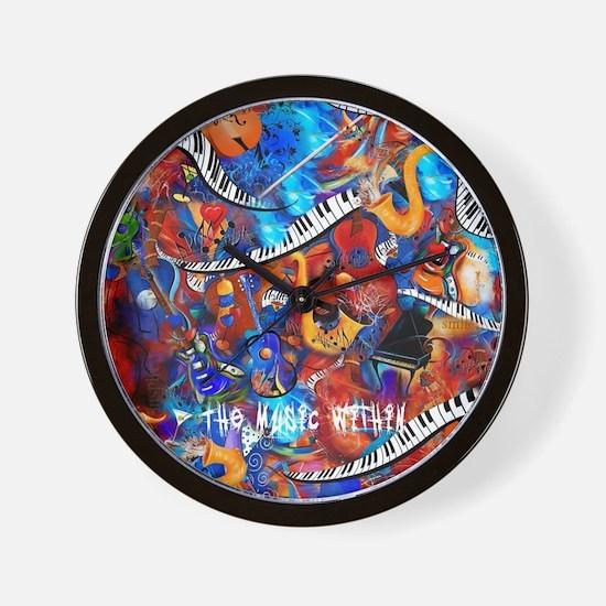 Juleez Music Theme Art Decor Music Love Wall Clock