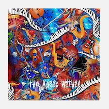 Juleez Music Theme Art Decor Music Lo Tile Coaster