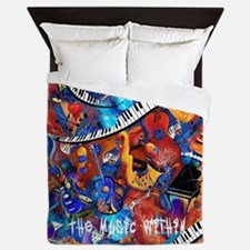 Juleez Music Theme Art Decor Music Lov Queen Duvet