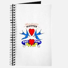 Knitter - Tattoo Art Swallows Journal