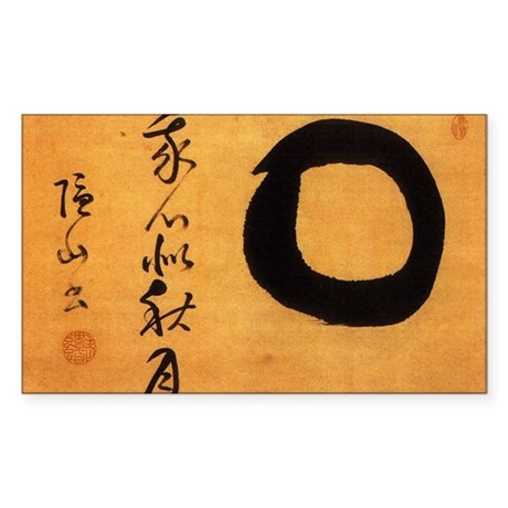 Torei Autumn Moon Enso Inzan Rectangle Sticker
