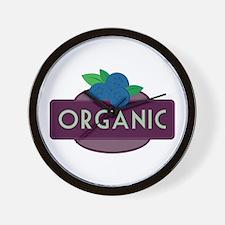 Organic Blueberries Wall Clock