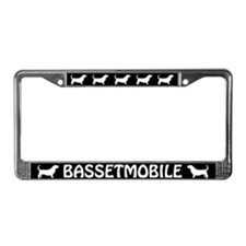 Bassetmobile License Plate Frame