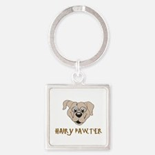 DOG - HAIRY PAWTER Square Keychain