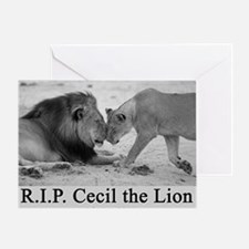 R.I.P. Cecil the Lion Greeting Card