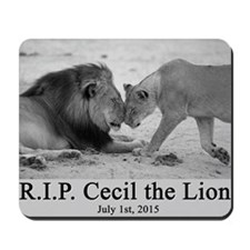 R.I.P. Cecil the Lion Mousepad