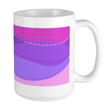 Purple Waves Large Mug